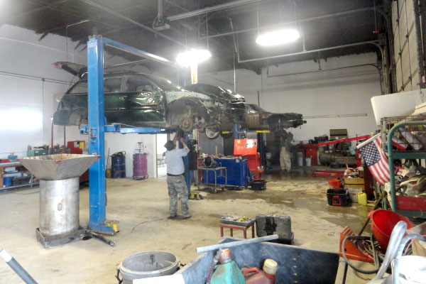 The automotive dismantling process in progress at A-1 Auto and Truck Recyclers near Penrose, CO